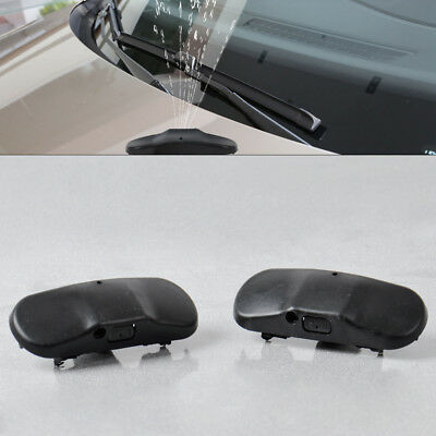 2Pcs Windscreen Washer Jet Water Spray Nozzle Fit VW Passat B6 Jetta Golf Caddy
