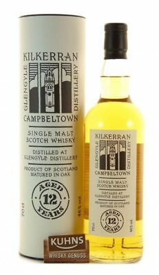 Kilkerran 12 Jahre Campbeltown Single Malt Scotch Whisky 0,7l, 46%