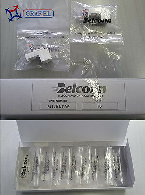 Lotto di 10 pezzi - Connettore RJ45 UTP - Cat. 5E - Belconn