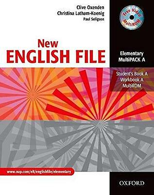 Oxford NEW ENGLISH FILE Elementary MultiPACK A (Files 1-4) new free P&P