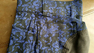 Clearance!! Gorgeous Harry's Horse Brown & Purple Paisley Full Seat Breeches