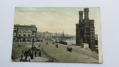 Postcard Dundee, Dock Street & Royal Arch. Unposted. Reg. 1905.