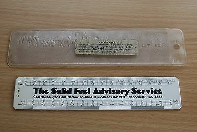 Vintage Ruler Advertising The Solid Fuel Advisory Service