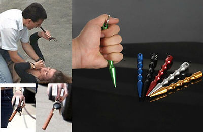 Hot! Aluminum Alloy Pen-shaped Kubaton Stick Keyring Self-defense Supplies