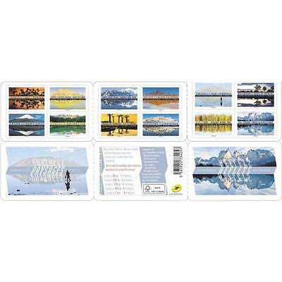 2017 France Stamps Booklet Landscapes Reflexions of the World Mint Adhesives