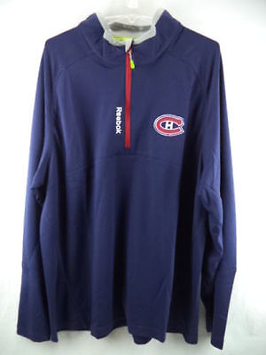 NHL Montreal Canadiens 1/4 Zip Play Dry Training Ice Hockey Top Jacket