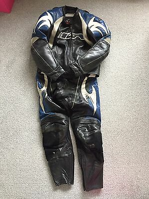 Hein Gericke Men's Leather Hiprotec Motorbike Motorcycle Suit - Size 34/36