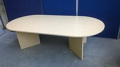 Maple Effect Boardroom Table, Meeting, Office, Conference, Will Flat Pack
