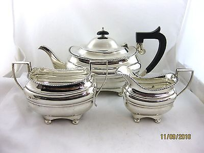 Solid Silver  3 pce TEASET  Hallmarked  SHEFFIELD 1941