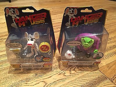 "Danger Mouse 3"" Action Figures  Danger Mouse & Baron Greenback & Nero - NEW"
