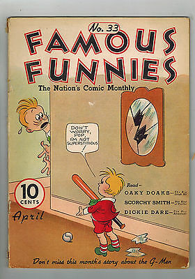 FAMOUS FUNNIES COMIC No. 33 from 1937