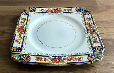 Beautiful Regency Style Single, Square Porcelain Plate - Made in England