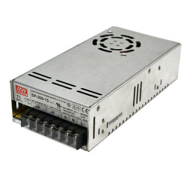 Mean Well SP-200-15 15VDC 13.4A Switching Power Supply 200W w/PFC Function