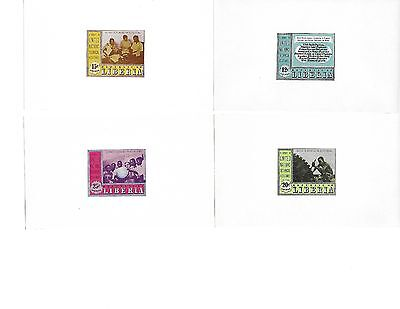 Liberia Airmail - Set of 4 Deluxe proofs - United Nations Technical Assistance