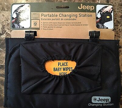 Jeep Brand Black Portable Baby Changing Station Travel..NWT