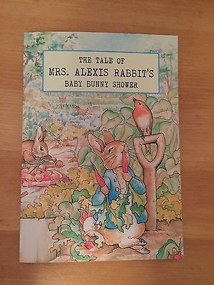 Peter Rabbit Library Card Book Baby Shower Invitation, Personalized, envelope