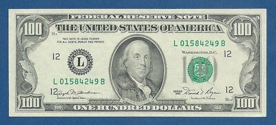 UNITED STATES OF AMERICA -- 100 DOLLARS ( 1981 ) -- aXF -- LETTER L -- PICK 473a