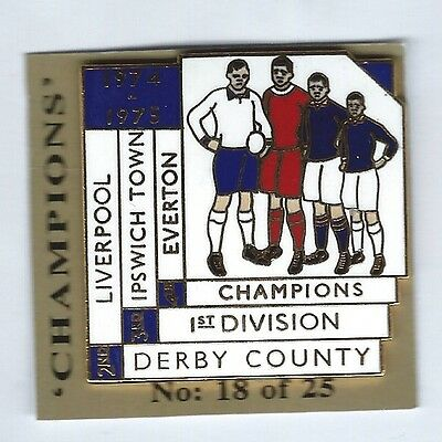 Derby County Champions 1974-75 Badge