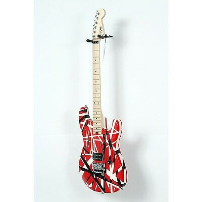 EVH Striped Series Electric Guitar Red with Black Stripes 888365965178