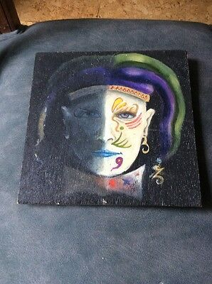 """""""The Face"""" Original Signed Oil Painting By Listed  MA Artist Thomas Eaton"""