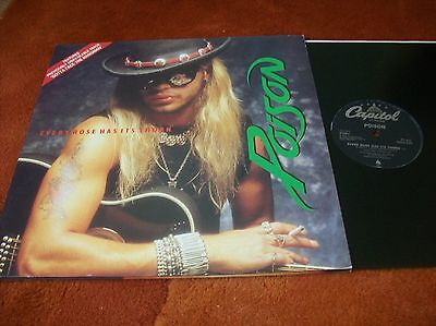 "POISON - every rose has its thorn 12"" single 1988 u.k issue EX"