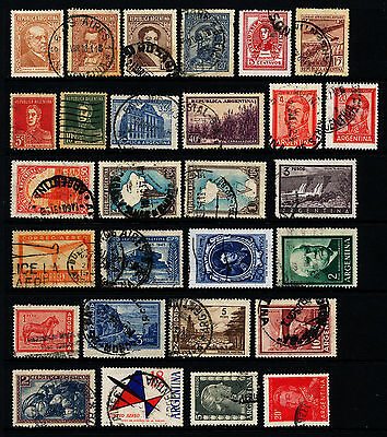 G104  Argentina Collection Of 28 Used Stamps