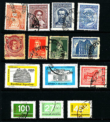 G344  Argentina Collection Of Used Stamps