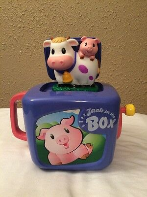 Old Macdonald Had A Farm Jack in the Box Cow Pig Keenway Musical Toy McDonald