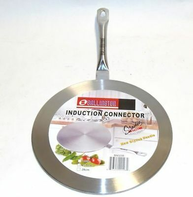 """Induction Cooktop Converter Interface Disc 11"""" Durable Stainless Steel Cookware"""