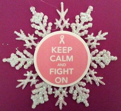 Breast Cancer Handmade Ornament NEW