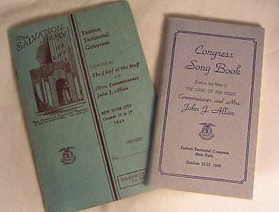Salvation Army - PROGRAM & SONGBOOK - EASTERN TERRITORY CONGRESS 1949