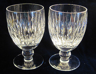 2 Waterford Maureen Footed Wine / Water Goblets 8oz