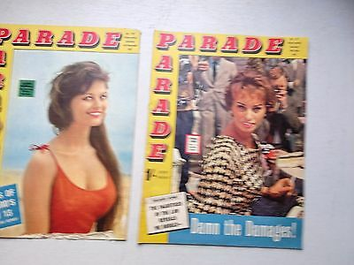 Parade Magazines  4 Issues From 1962