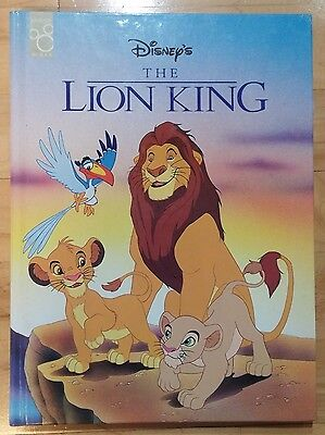 Walt Disney's The Lion King Large Story Book by Mouse Works Hardback 1994