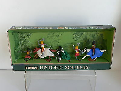 Timpo Knights In Armour Boxed Set  ORIGINAL 1960's OLD SHOP STOCK  BOXED SCARCE