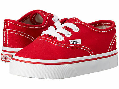Toddler Vans Authentic Canvas VN-0ED9RED Red White 100% Authentic Brand New