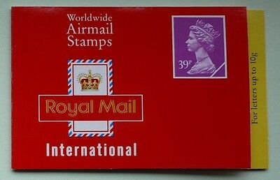 1992 Walsall 2x39p Barcode Booklet SG Catalogue No GD4a CYLINDER PANE W2