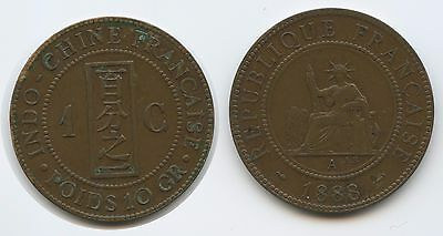 G6137 - French Indo-china 1 Cent 1888 A KM#1 Französisch Indochina