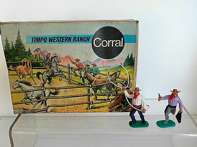 Timpo Wild West Cowboy Ranch Boxed Set  ORIGINAL 1960's OLD SHOP STOCK  BOXED