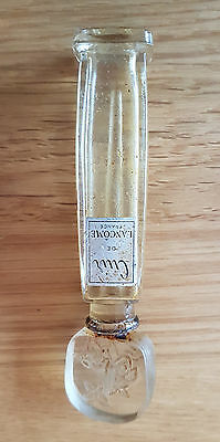 Rare 1930's Lancome Crystal Perfume Bottle Only France