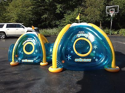 Arctic Snow Zone Inflatable Portable Outdoor Play Blow-up igloo2 Tent Tunnel XL