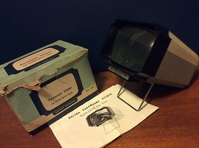 Paramount Colour Slide Viewer Vintage Boxed Battery Opperated No.532 With Manual
