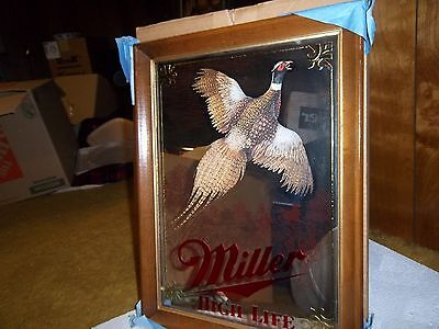 MILLER HIGH LIFE BEER SPORTSMAN SERIES PHEASANT HUNTING MIRROR SIGN New in box
