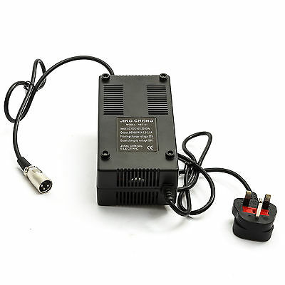 BATTERY CHARGER 48 Volt Electric Bicycle Scooter Male 3 Pin UK Plug Evo 48v