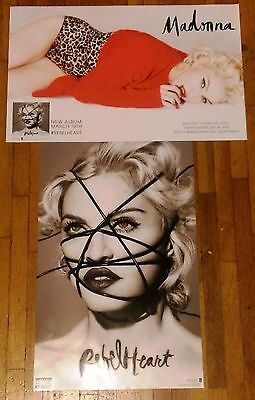 Madonna Rebel Heart Living For Love Rare Double Sided Promo Poster