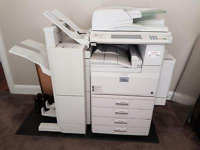 Ricoh MP-4500 Photocopier with booklet maker.