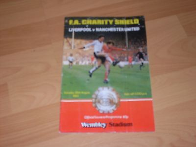 f.a. charity sheld lverpool vmanchester united 20th august 1983