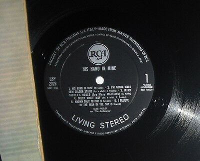 Elvis LP His hand in mine LSP-2328 Italy LIVING STEREO 1961, VERY RARE