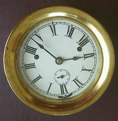Antique Vintage Ships Clock Brass Seth Thomas #10 Movement