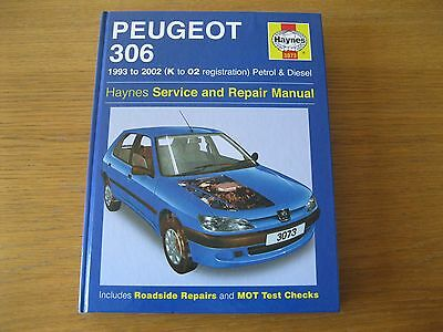 Haynes manual Peugeot 306 Petrol & Diesel 1993 to 2002